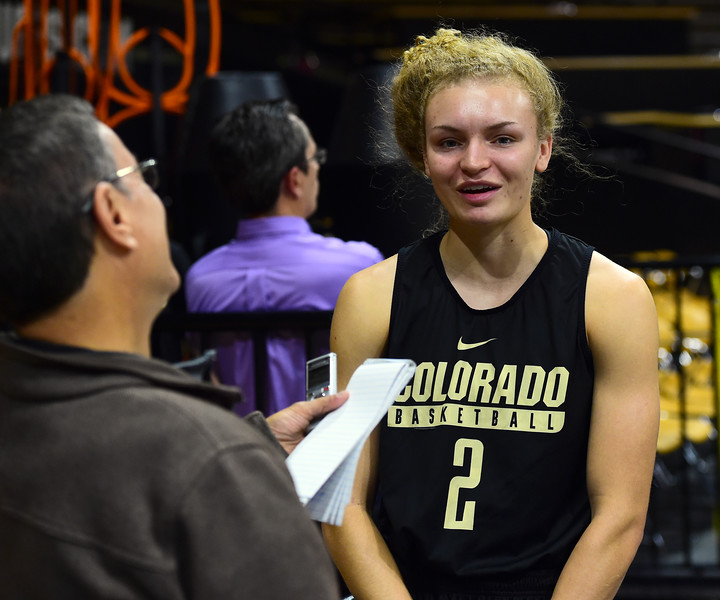 CU Women Basketball Media Day