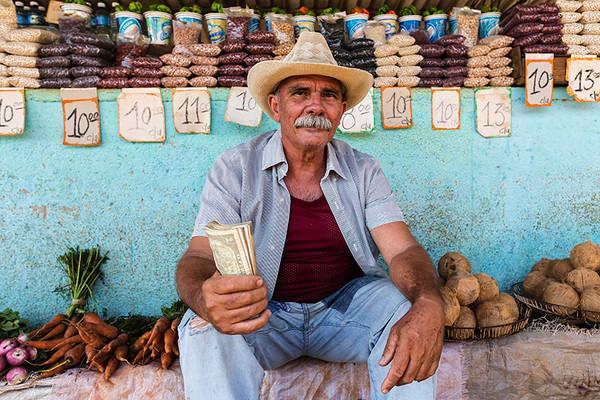 Merchant at the Farmer's Market