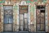 Complimentary pentimento, three doors