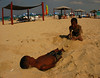 Cuban children play on Playa El Megano, one of the string of beachs that make up Playas del Este (Eastern Beaches), about 20 minutes east of Havana, Cuba. (Spud Hilton / The Chronicle)