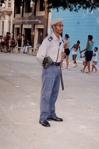 A Police on every corner in Downtown Havana makes it a Safe Place
