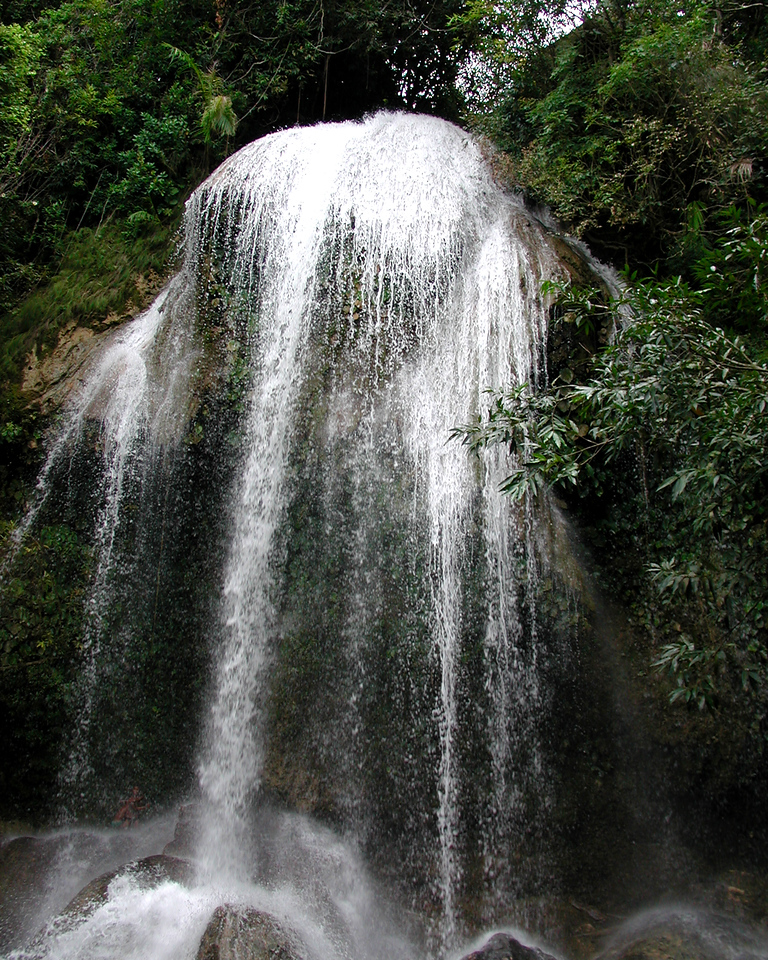 Soroa Waterfall - This is a 66 foot (20 m) watefall. The water is cool.<br /> Vinales, Cuba