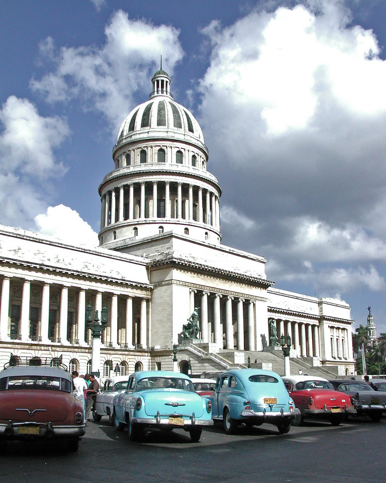 "Capitolio de Havana - THis Capital building was modeled after the U.S. Capitol.<br />     <a href=""http://www.nnc.cubaweb.cu/historia/historia26.htm"">http://www.nnc.cubaweb.cu/historia/historia26.htm</a><br /> <br />  <a href=""http://en.wikipedia.org/wiki/Havana"">http://en.wikipedia.org/wiki/Havana</a>"