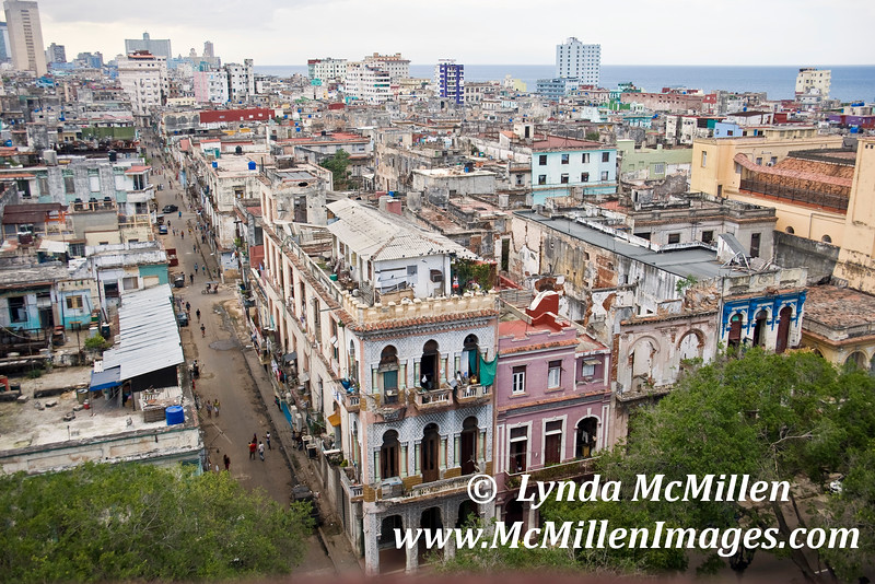 Looking down Centro Habana from Parque Central.