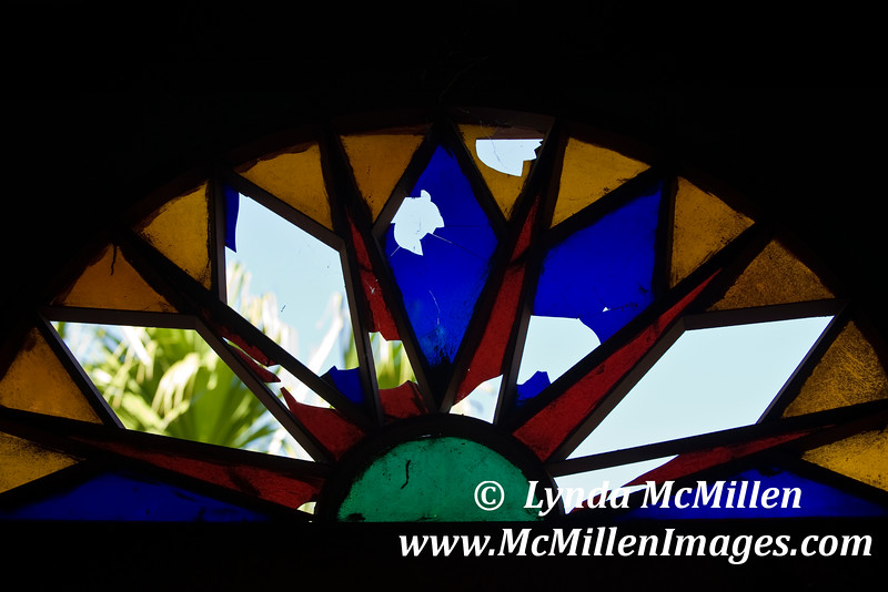Stained glass at Edwin Atkins' Mansion.