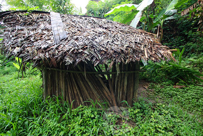 """After 8 hours of the river the first question that comes to mind is """"where is the bathroom?"""".  In Kaigiru, the arrangement was a hut with a hole dug in the ground and a log across to balance on. Not an easy task for a first timer, espeially when surrounded by a whole bunch of curious giggling kids."""