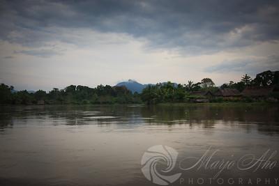 After 8 hours on the April river we arrive at Kaigiru Village