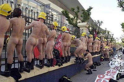 Spanish Firemen Demonstrate for a Pay Rise