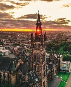 Sunrise at University of Glasgow