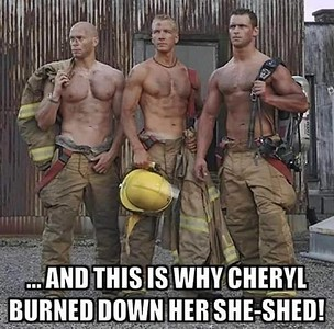 Another She Shed Set Alight