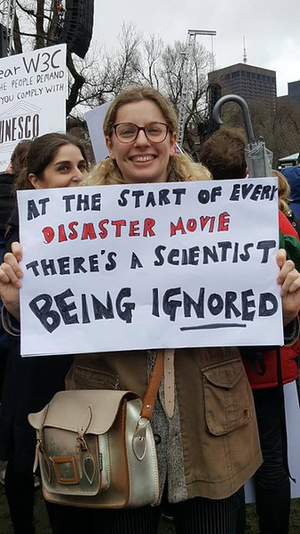 Seen at the March for Science, 22 April, 2017