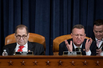 Rep. Douglas A. Collins (R-Ga.), right, rants during a House Judiciary Committee hearing in Washington on Dec. 12.