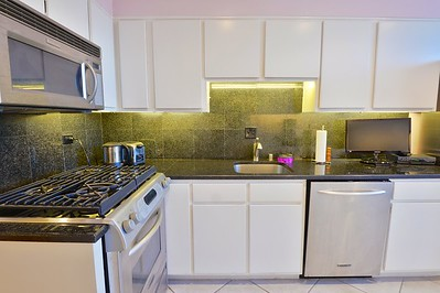 KITCHEN: STAINLESS APPLIANCES, NEW GRANITE & CABINETS