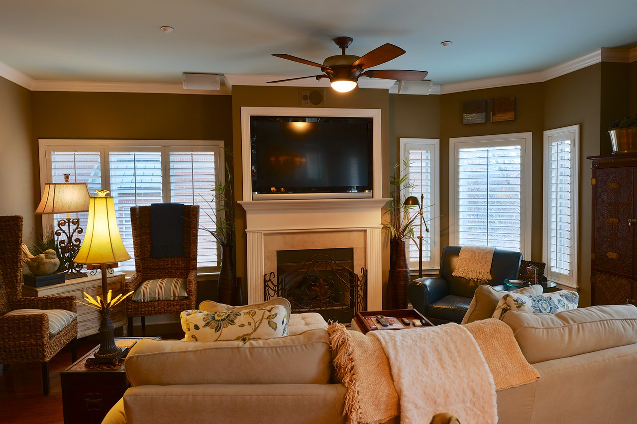 FAMILY ROOM FIREPLACE FROM DINING