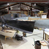 Hulls joined with major bulkheads in place. Bow sprit mocked up.