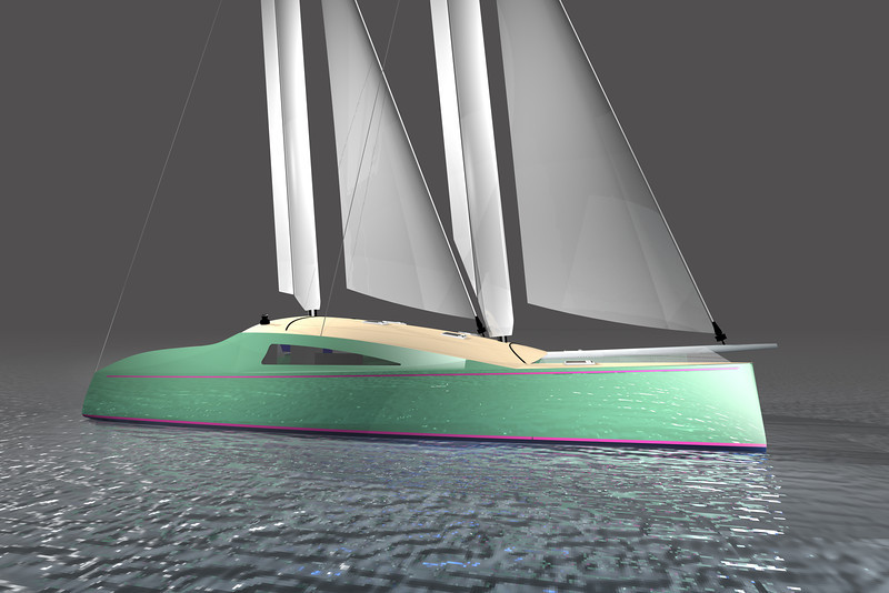 MastFoil 41 with elongated waterline.