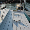 Aft deck for hanging out and dinghy stow.