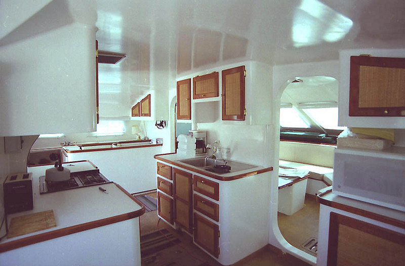 Galley looking forward and to port.