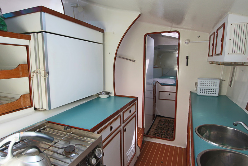Galley looking toward aft cabin