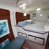 Spacious aft cabin, starboard hull.  V45, FREESTYLE