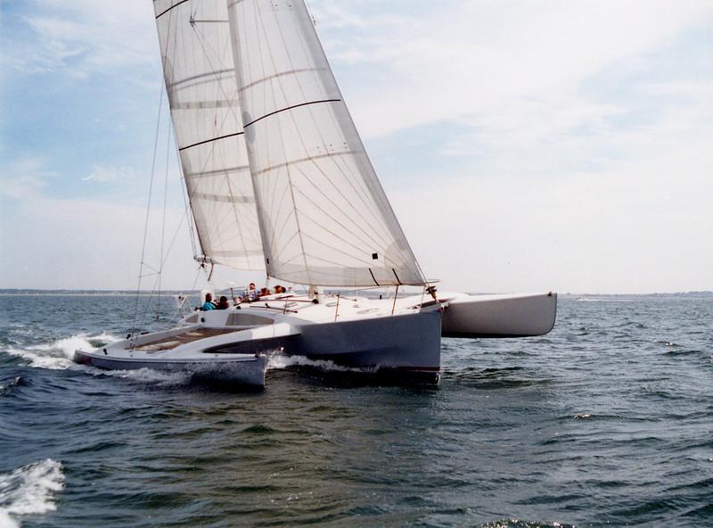 """Sluefoot"" Nantucket Sound. Built by Lone Star Multihulls"