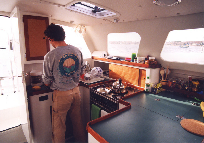 """Flying Fish"", Galley aft port side."