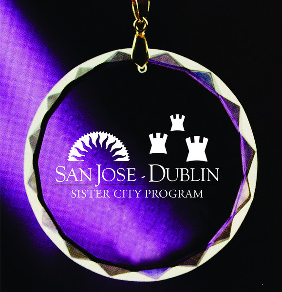 Crystal ornament design and production for San Jose - Dublin Sister City delegation gifts.