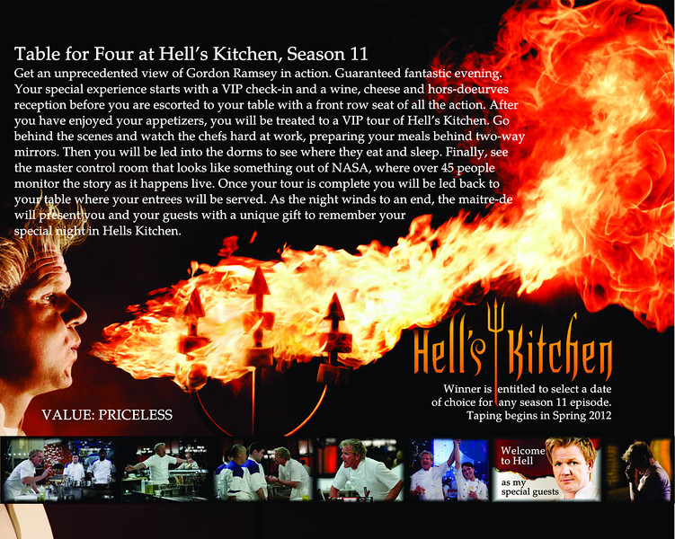 Hell's Kitchen auction Item Flyer