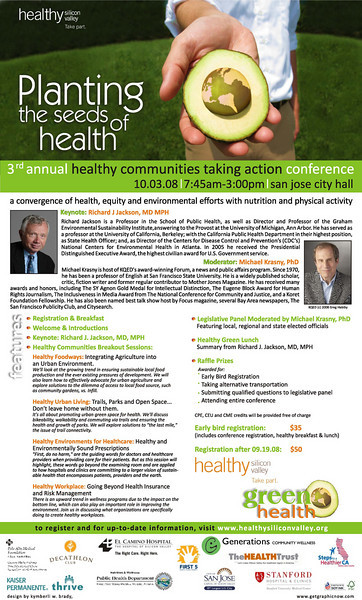 Photography Retouch and Brochure Design(inside) for Healthy Silicon Valley's Annual Healthy Communities Taking Action Conference, held at San Jose City Hall in 2009