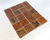 100 each tiles 5 x 5 with Otono patina.