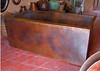 """This photo was taken in the showroom of the fabricator. I had to use flash so it isn't an """"exact"""" image of the patina."""