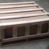 There are 5 crates just like this. Each crate is 47x47x19 inches and weighs 337 lbs.