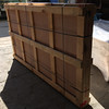 The crate is 82x46x8 inches and weighs 267 lbs.