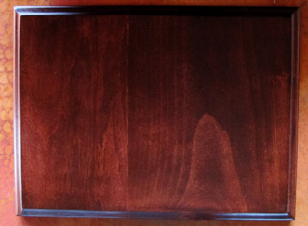 The stain finish. I took the photo on a copper table top to show you how the colors work together. PERFECT!