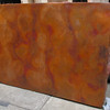 The colors are showing up a little more orange than the actual color is. It is still in cruda. When it is affixed to the substrate, and receives multiple coats of wax, it will be darker. And over time, it will naturally darken. It is a beautiful patina. I think it is a go.