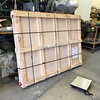 Table crate is 69x52x7 inches and weighs 261 lbs.