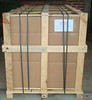 The packer failed to take a photo with your crate attached to the pallet, so I am showing you this photo which is what yours looks like attached to the pallet for reference. It should look like this with the strapping when you receive it.