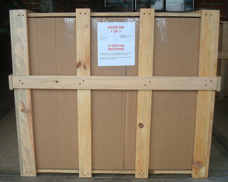This is your crate before it was attached to the pallet.