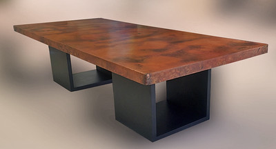 Your table is a beauty, Pam. I absolutely love to copper patina colors.