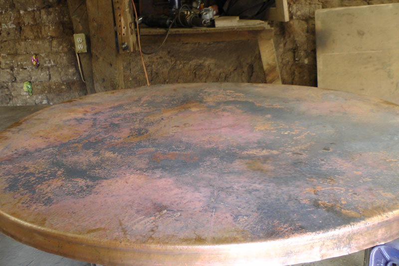 This is the natural copper. It has not yet been fired.