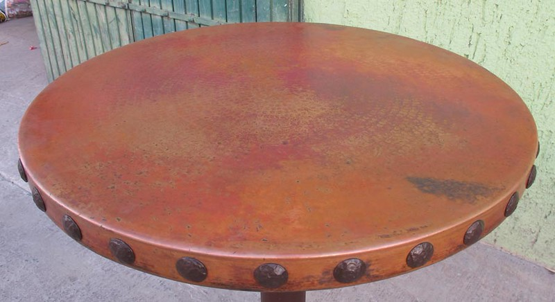 The patina with the conchas. A very beautiful patina color.