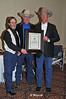 CHA 0108<br /> CCHA RIDERS HALL OF FAME<br /> GERRY HANSMA<br /> RON ANDERSON & LES TIMMONS PRESENTING