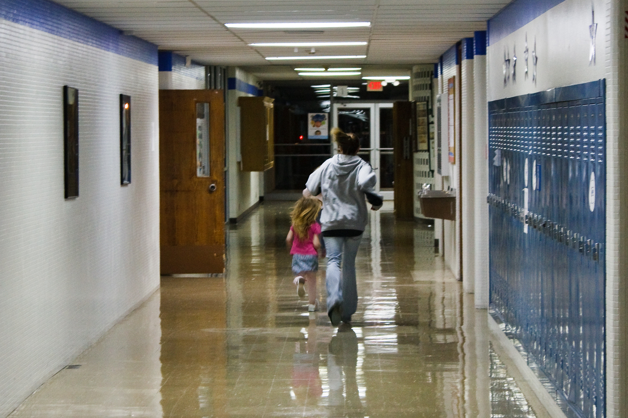 Running in the hall