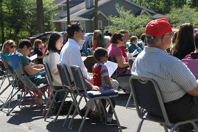Neighbors from two churches gather for worship