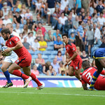 July 26, 2014 - Rugby Sevens - Canada v Barbados in the Rugby Sevens at the 20th Commonwealth Games in Glasgow, Scotland.<br /> <br /> Final score of the game was Canada 68 and Barbados 5.<br /> <br /> If you have any questions don't hesitate to reach out to us!<br /> <br /> Thanks!<br /> <br /> Photos by Al Milligan, Al Milligan Images, 2014
