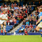 July 26, 2014 - Rugby Sevens - Canada vs Scotland in Rugby Sevens at the 20th Commonwealth Games in Glasgow, Scotland.  Final score of the game was Canada 5 and Scotland 21  Photos by Al Milligan, Al Milligan Images, 2014