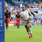 July 26, 2014 - Rugby Sevens - Canada vs. Trinidad & Tobago in the Bowl Quarter final duing the Rugby Sevens at the 20th Commonwealth Games in Glasgow, Scotland.<br /> <br /> Final score of the game was Canada 33 and Trinidad & Tobago 0.<br /> <br /> If you have any questions don't hesitate to reach out to us!<br /> <br /> Thanks!<br /> <br /> Photos by Al Milligan, Al Milligan Images, 2014