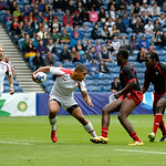 July 26, 2014 - Rugby Sevens - Canada vs. Trinidad & Tobago in the Bowl Quarter final during the Rugby Sevens at the 20th Commonwealth Games in Glasgow, Scotland.<br /> <br /> Final score of the game was Canada 33 and Trinidad & Tobago 0.<br /> <br /> If you have any questions don't hesitate to reach out to us!<br /> <br /> Thanks!<br /> <br /> Photos by Al Milligan, Al Milligan Images, 2014