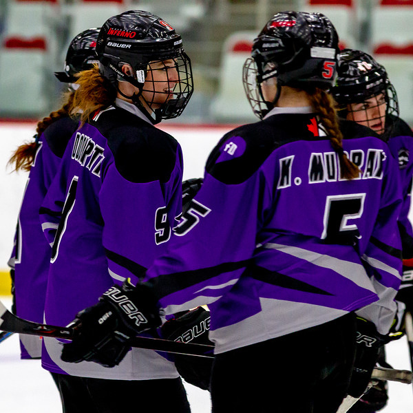 January 12, 2019 - Calgary, Alberta - The Calgary Inferno hosted the Toronto Furies for Inferno's fourth annual 'Start the Spark' game which is played to support and generate awareness for youth mental health.