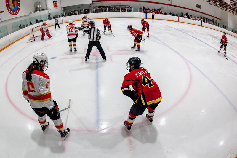 January 22, 2019 - Calgary, Alberta - The KRS Vanke Rays visited Calgary to play the Inferno at the Crowchild Twin Arenas in Calgary.